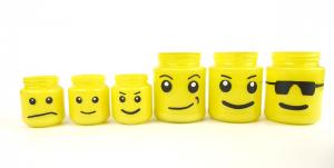 lego head jars