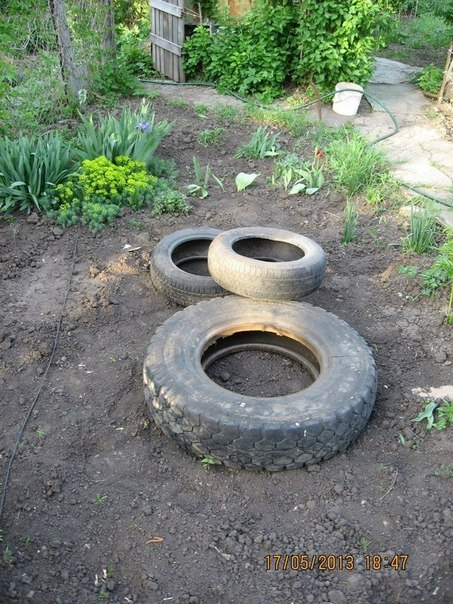 Building Backyard Ponds diy tire pond turns your backyard into an oasis