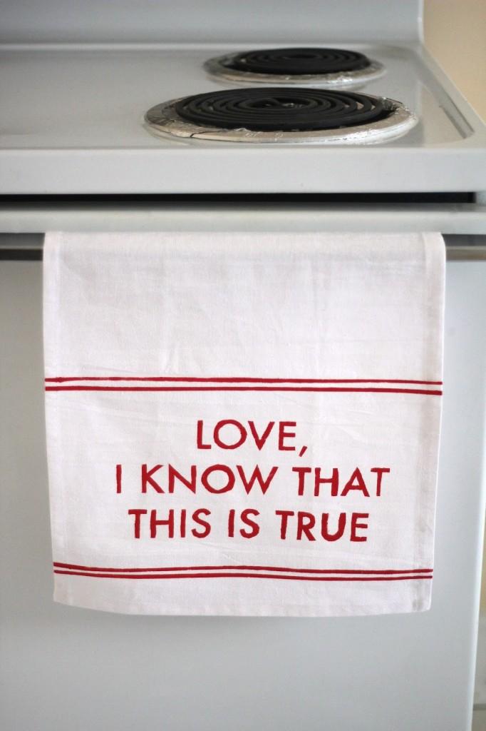 words of wisdom tea towel