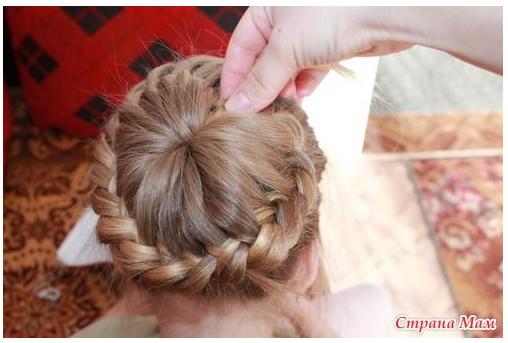 Плетение петлями косы - Коса из петель - Косы и косички, плетение из волос кос и косичек