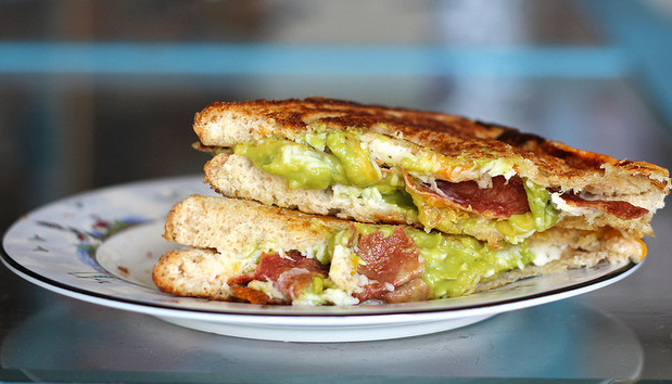 bacon recipes - bacon avocado grilled cheese