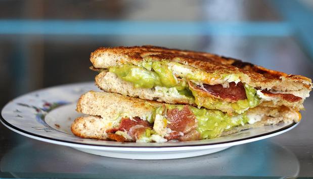 bacon recipes - bacon avocado grilled cheese