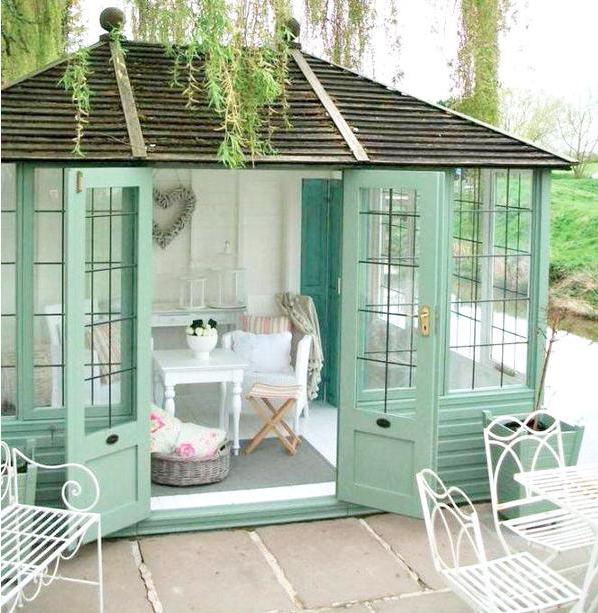 She sheds for woman only oasis private space - Man caves chick sheds mutual needs ...