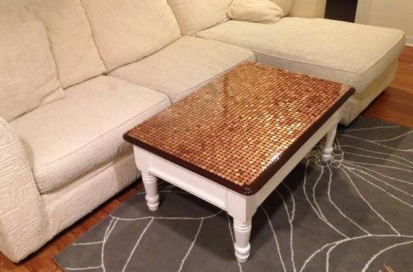 pennies DIY art floor backsplash tutorials - Copper Kitchen Backsplash Ideas