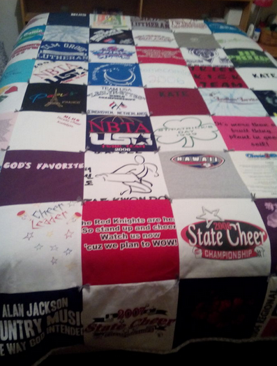 T Shirt Quilt Diy Directions Sewing Involved