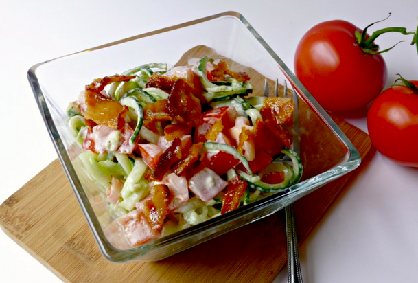 Bacon, Tomato, Cucumber Salad recipe