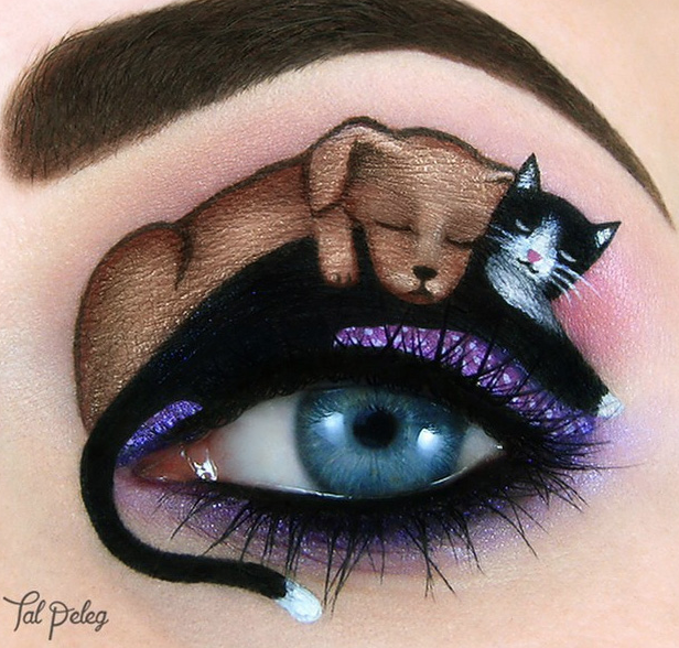 eye shadow art - tal peleg - dog and cat friends