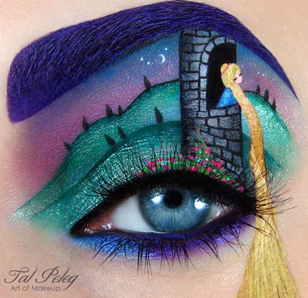 eye shadow art - tal peleg - rapunzel