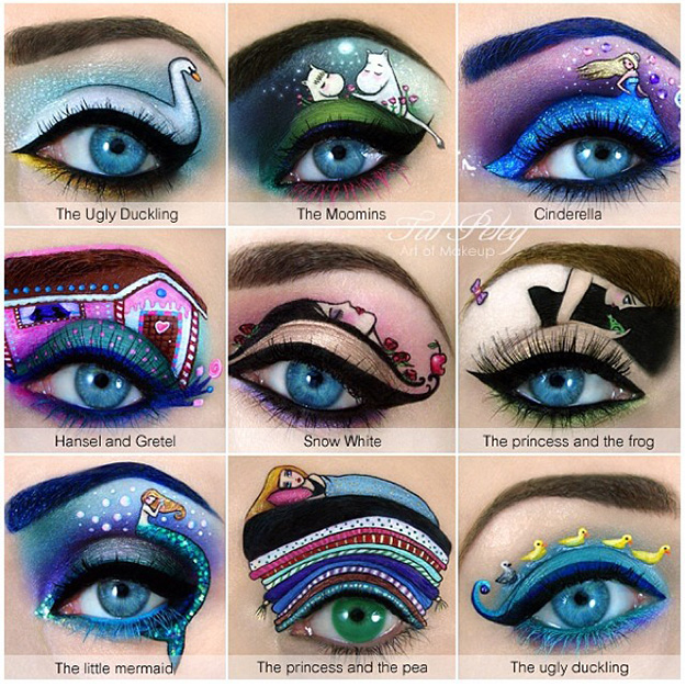 eye shadow art - tal peleg - allcreated - little mermaid