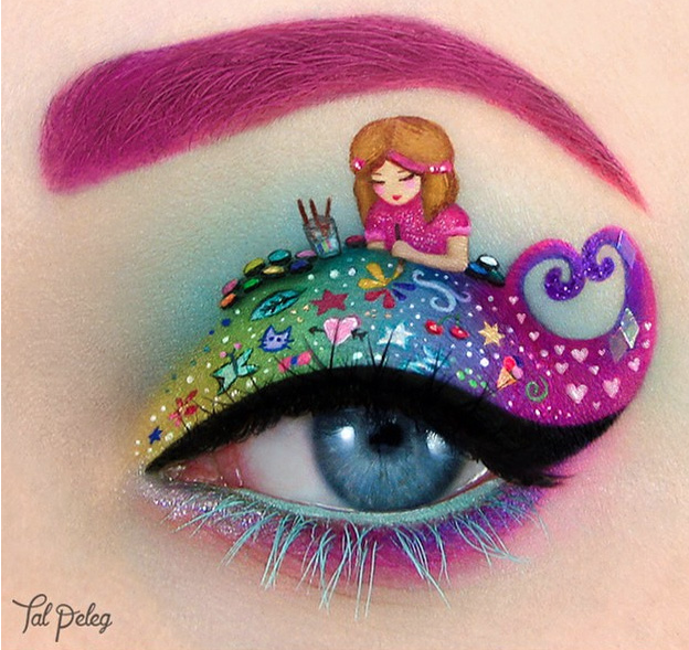 eye shadow art - tal peleg - allcreated