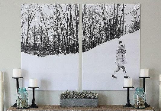 Inexpensive Wall Art photo wall art diy inexpensive