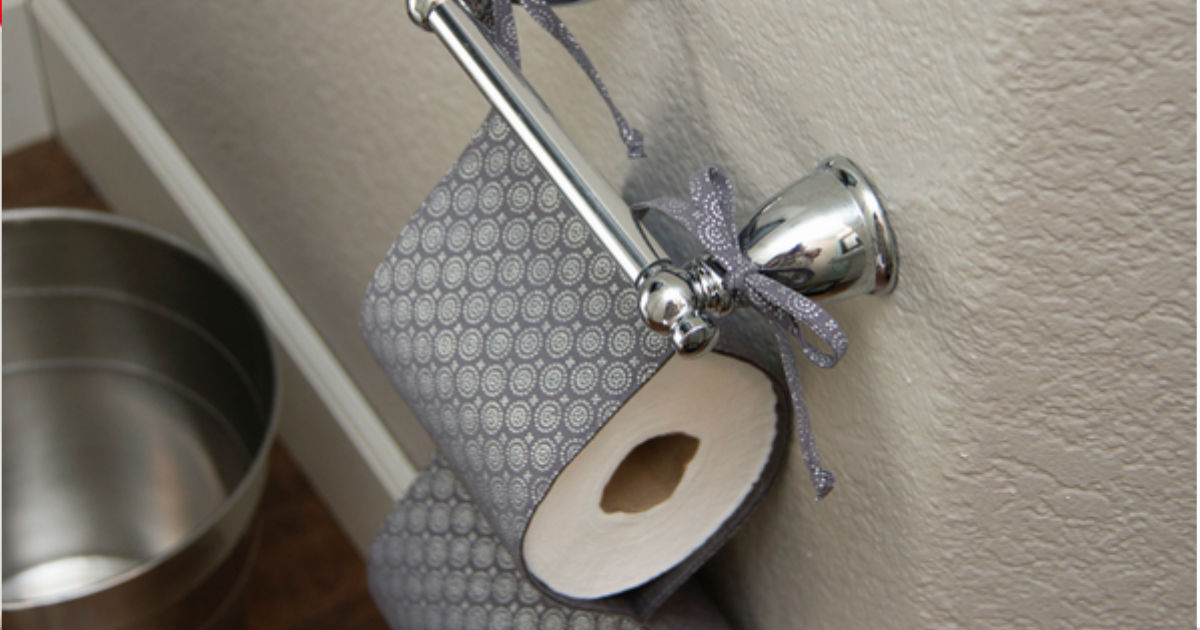 Cool Toilet Paper Storage: Toilet Paper Holder DIY Fabric Tutorial Step By Step