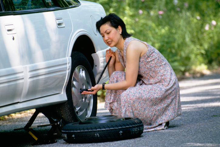 change flat tire step  step directions