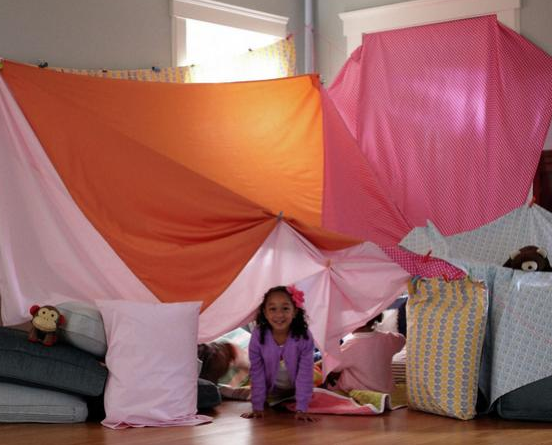 how to build a indoor fort