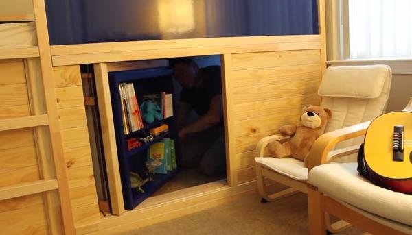 Ikea Hack Bed Slide Secret Room Diy