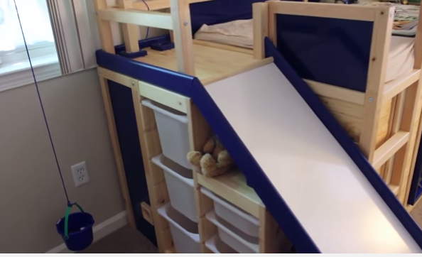 Jm Allcreated Ikea Hack Bunk Bed Slide Secret