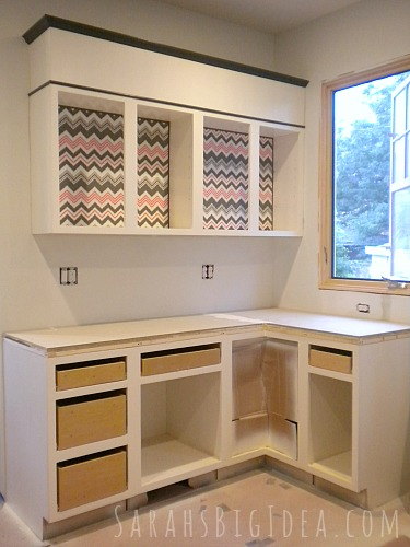 Dress Up Your Cabinets With These Easy DIY Fabric Inserts
