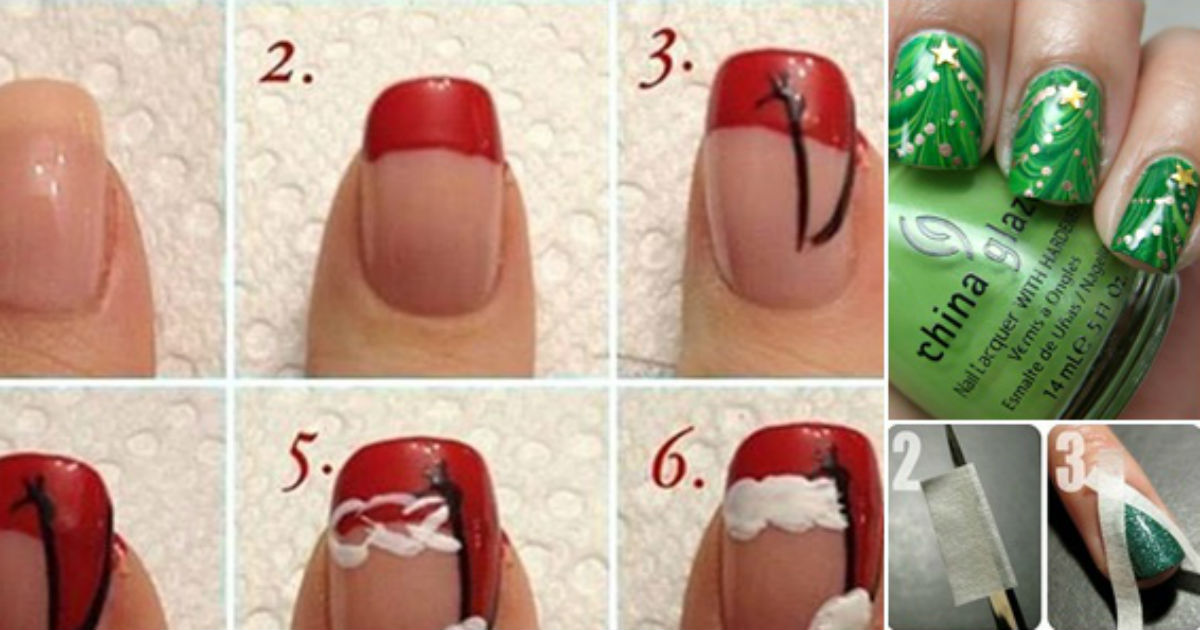 10 Adorable Diy Christmas Nail Art Ideas All Created