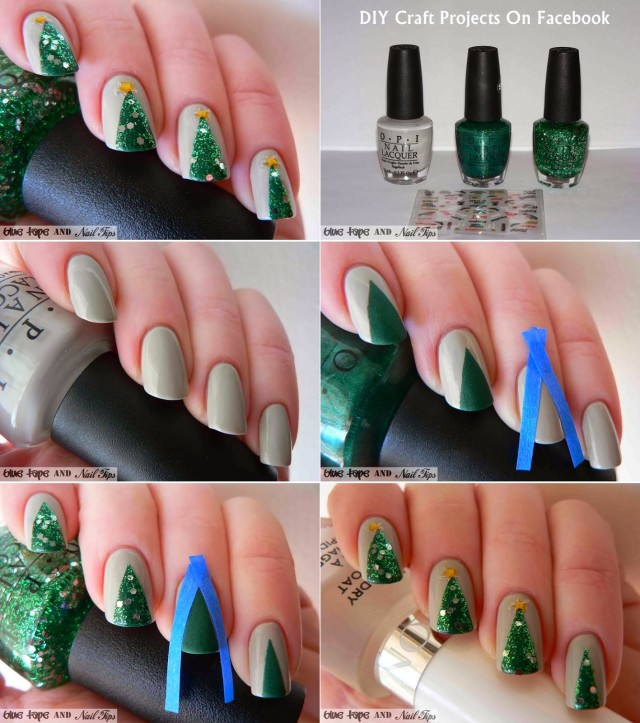 10 Adorable DIY Christmas Nail Art Ideas