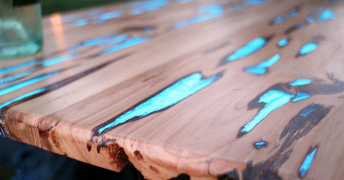 make glow table diy video tutorial. Black Bedroom Furniture Sets. Home Design Ideas