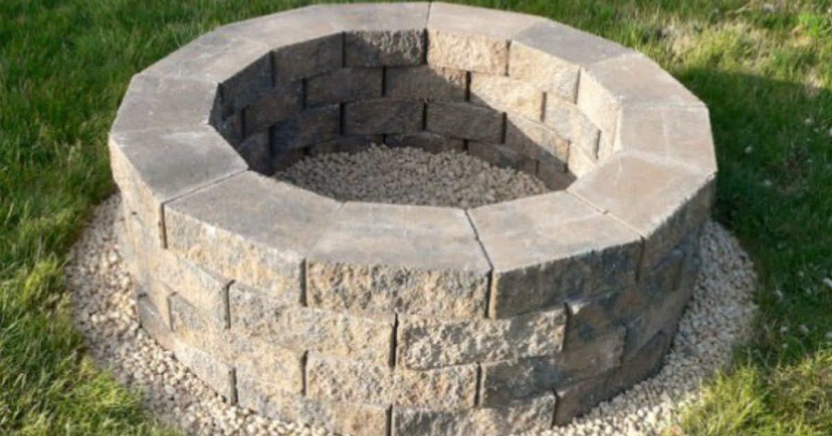Steps to build fire pit diy for Step by step fire pit