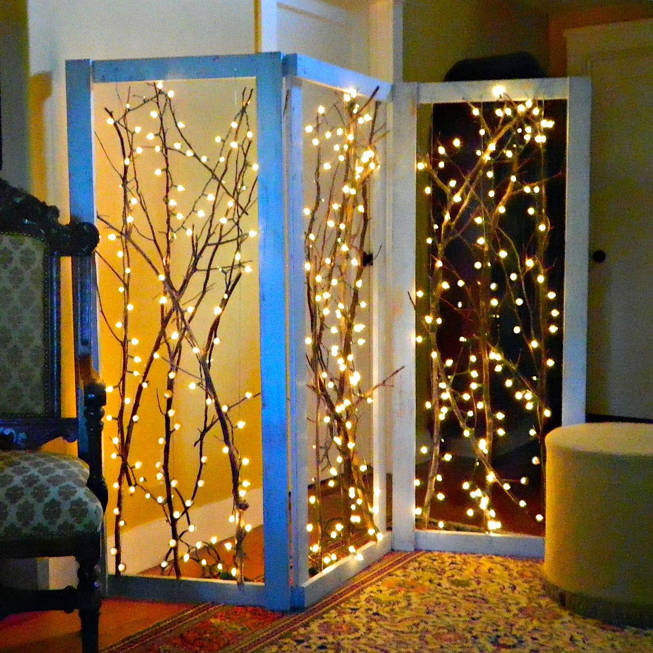 Diy Room Screen Diy Twinkling Branches Room Divider All Created
