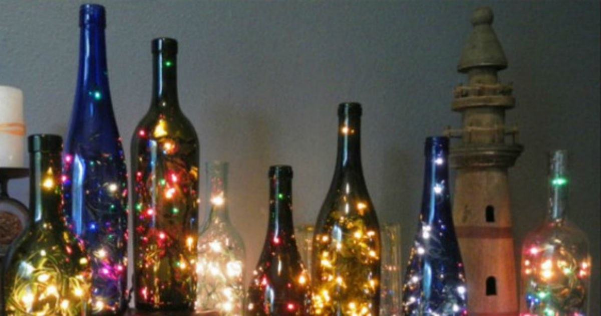 String Lights In Wine Bottles : DIY Wine Bottle String Lights - All Created