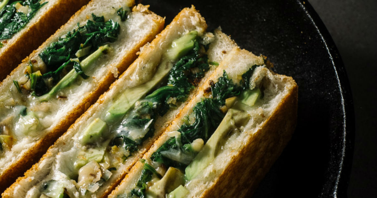 Green Grilled Cheese Recipe - All Created