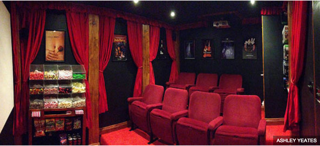 shed hides secret movie theater - allcreated