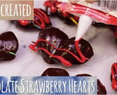 chocolate covered strawberry hearts - AllCreated