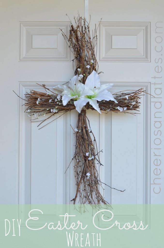 DIY-Easter-Cross-Door-Wreath - AllCreated