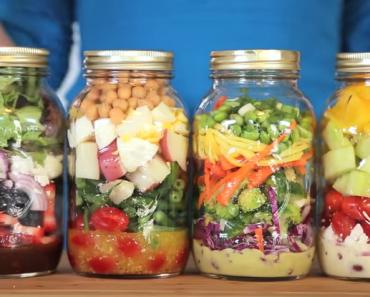 Mason Jar Salads - AllCreated