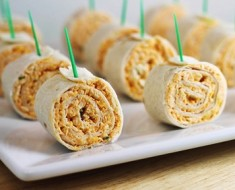 buffalo chicken pinwheels AllCreated