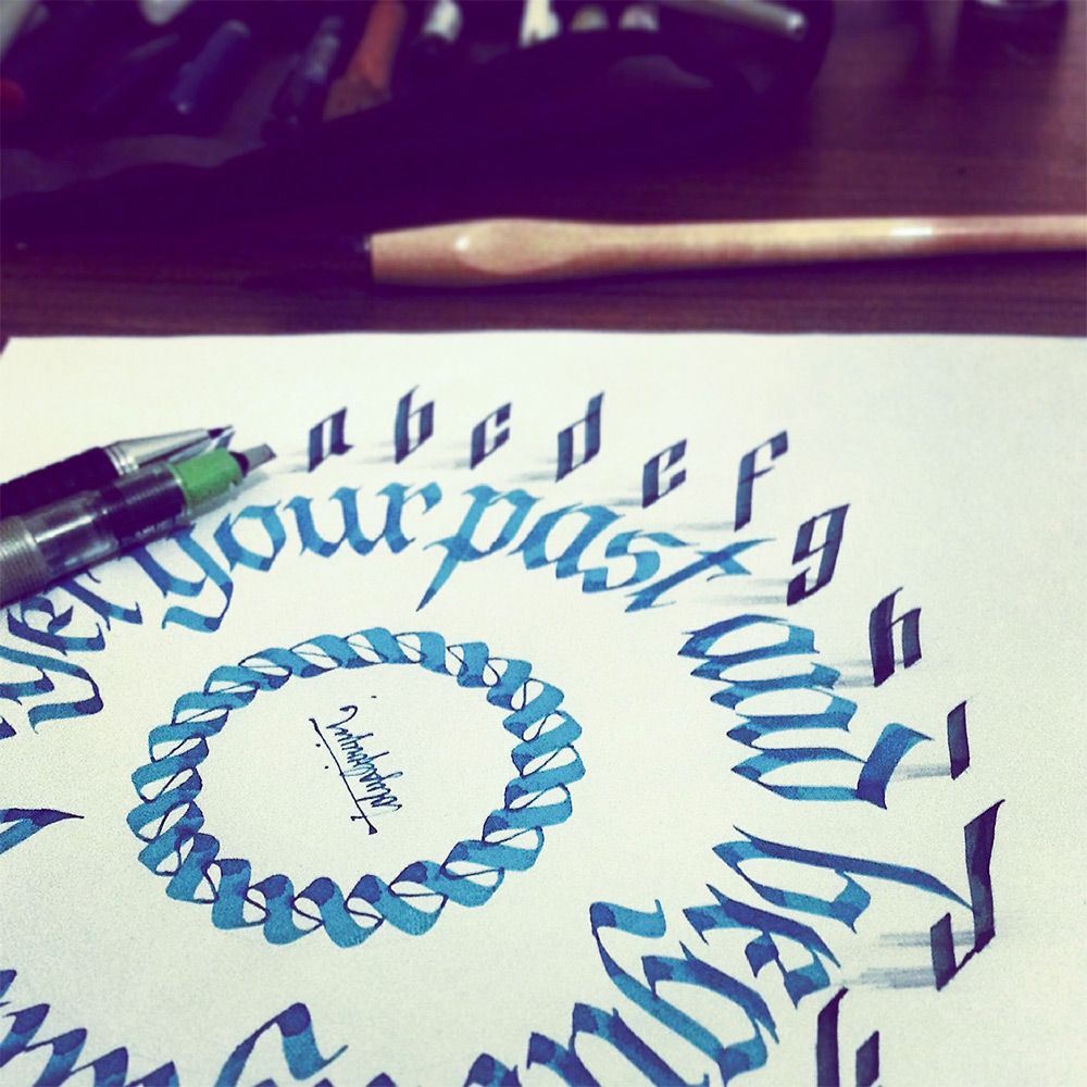 3d drawing - calligraphy 2