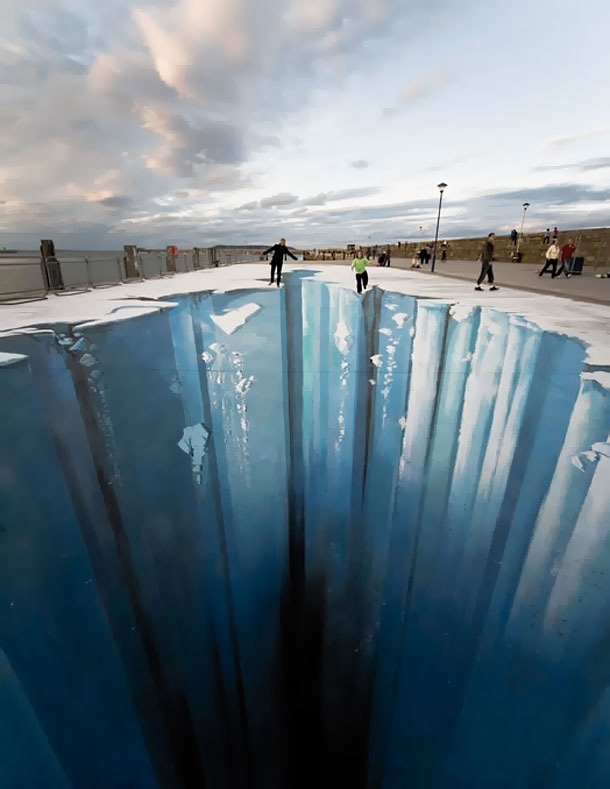 3d drawing - sidewalk art