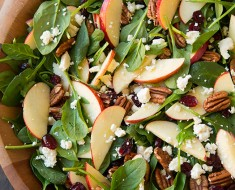 AllCreated - apple spinach salad