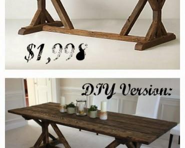 AllCreated - DIY Farmhouse Table