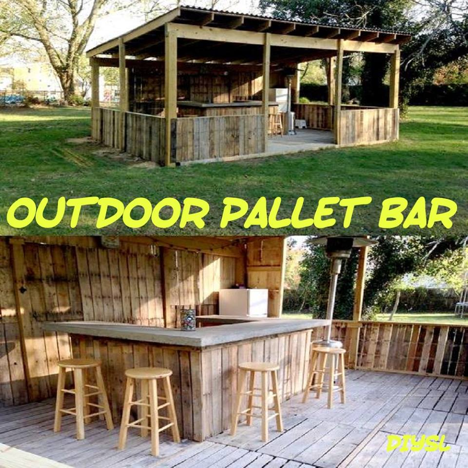 DIY Pallet Bar! Who Knew.
