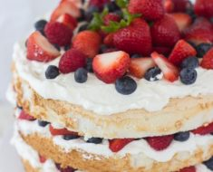 All Created - berry angel food cake