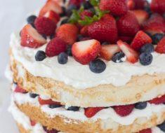 All Created - berry angel food cake