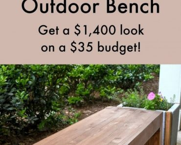 All Created - DIY Outdoor Bench