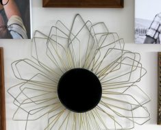 All Creatd - DIY Sunburst Mirror Coat Hangers
