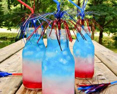 All Created - Red White And Blue Layered Punch