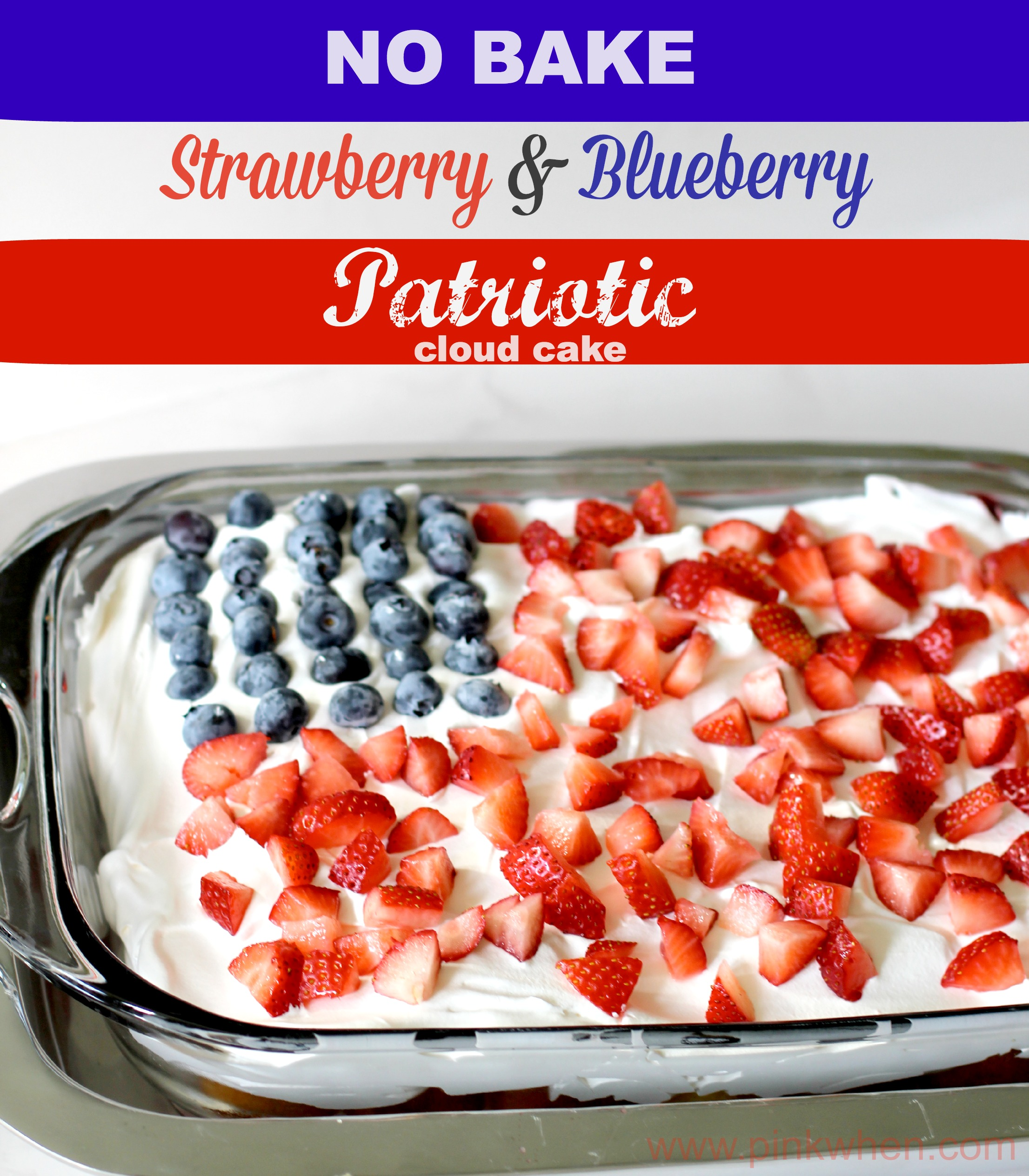 All Created - No Bake Flag Cake