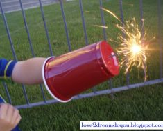 All Created- Fireworks Sparkler Hack for Kids