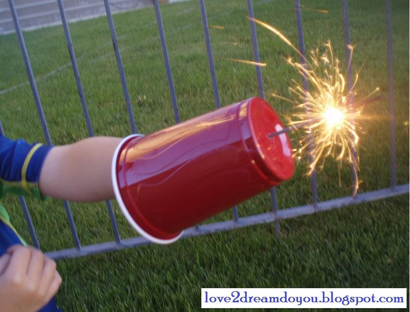 All Created- Fireworks Sparkler Hack for Kids