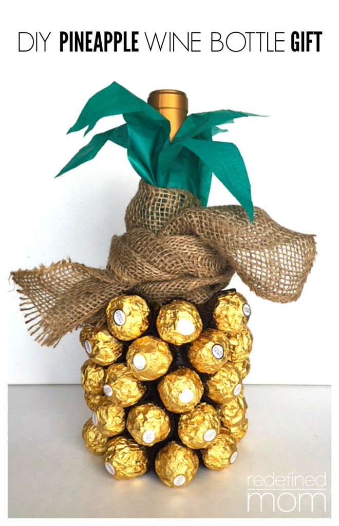 All Created - Chocolate Pineapple WIne Bottle Gift