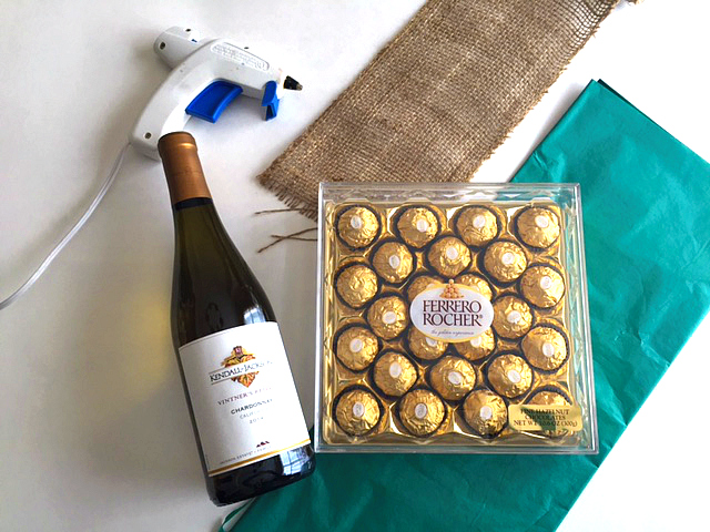 All Created - Chocolate Pineapple WIne Bottle Gift -2