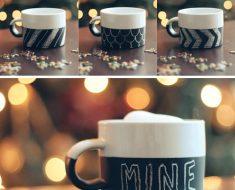 All Created - DIY Chalkboard Mug