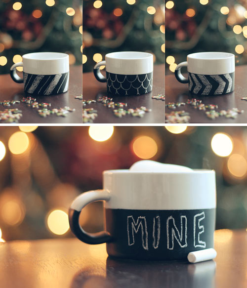 All Created - DIY Chalkboard Mug